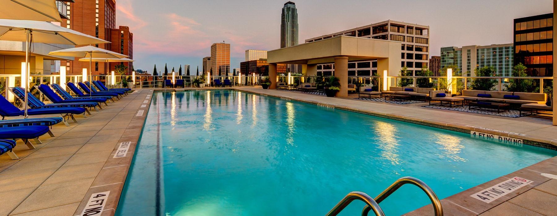 resort-style rooftop pool